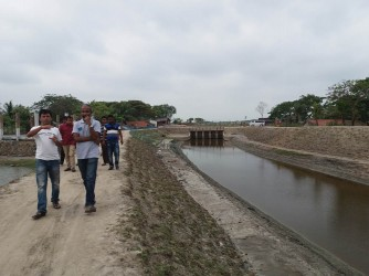 ACf Country Director Visited Canal Re exavation.