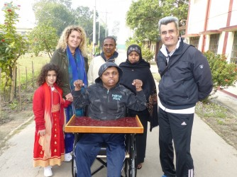 Donor given Wheel chair