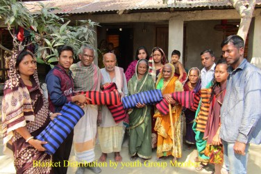 Blanket Distribution by HEAD group to senior citizen