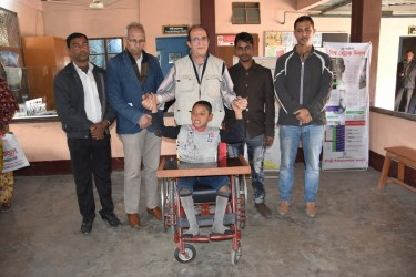 Wheel Chair distribution to a student 2019