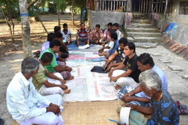 Bonoful Self Help Group conduct courtyard meeting by weekly basis.