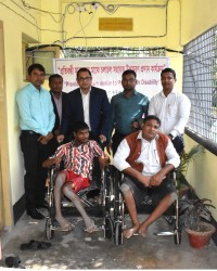 Assistive device distribution among Person with Disability by Honorable Upazila Administration Officials.