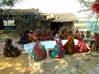 Courtyard Meeting conduct by Group leader of Self Help Group (SHG)